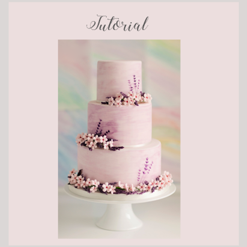 Watercolour Wedding Cake Tutorial