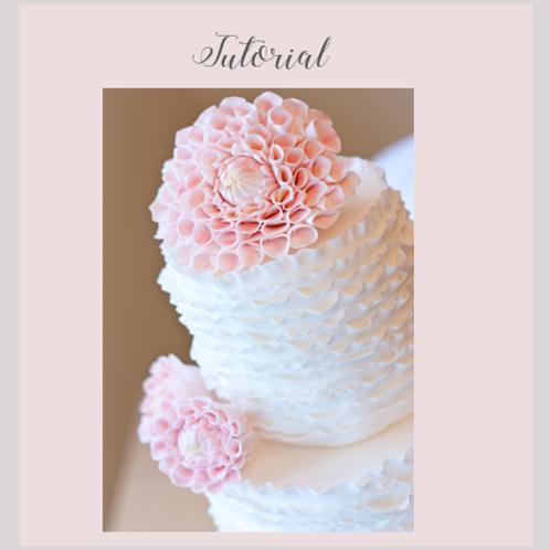 Dahia Ruffle Wedding Cake Tutorial