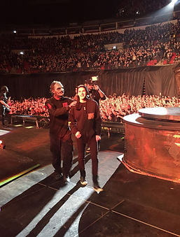 Declan on stage with Corey Taylor