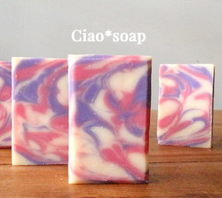 Drop swirl soap