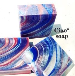 ヘアラインストライプデザインの石鹸
