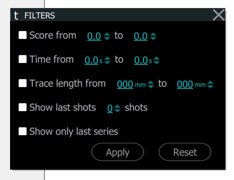 TRACE: Filters Window