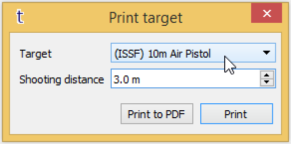 TRACE App: How To Print The Target