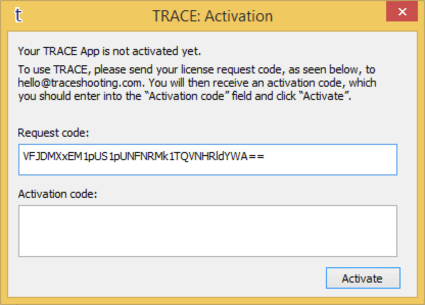 TRACE Activation Dialogue