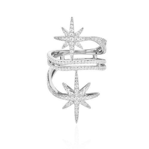 A17080OX APM Monaco METEORITES Ring Silber