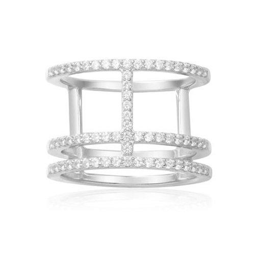A14726OX APM Monaco CROISETTE Ring Silber