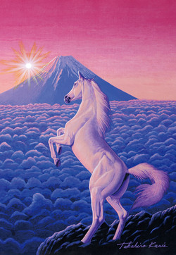 Mt.Fuji & white horse