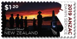 Anzac Dawn Service - my photo on a New Zealand postage stamp!