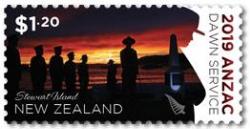 Anzac Dawn Service - my photo on a New Zealand postage stamp!