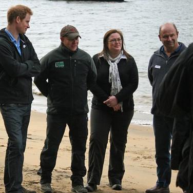 Prince Harry meets  the Ulva Island Charitable Trustees