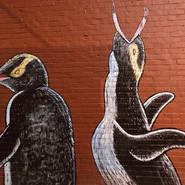 Penguin street art