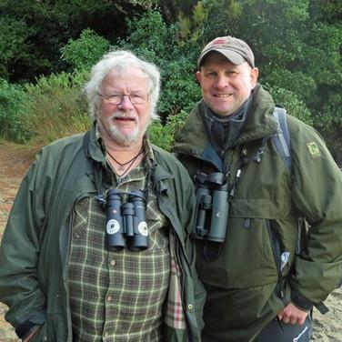 A birding Goodie - guiding Bill Oddie O.B.E.