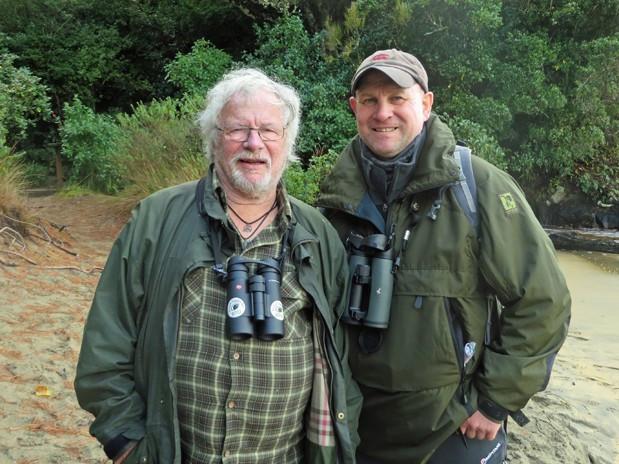 Bill Oddie and me at Ulva Island, NZ