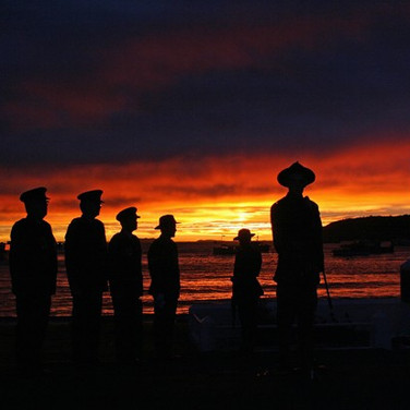 Awesome sunrise, Anzac Day 2015