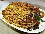 Hong Kong style beef chow mein