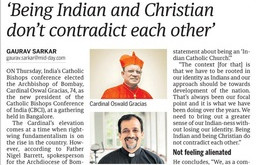 BEING INDIAN AND CHRISTIAN DON'T CONTRADICT EACH OTHER