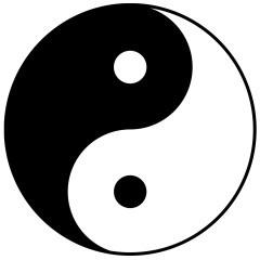 Yin ja Yang on hyvin tunnettu symboli