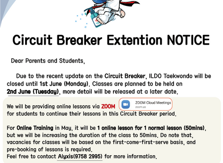 Circuit Breaker (CB) Extension Notice