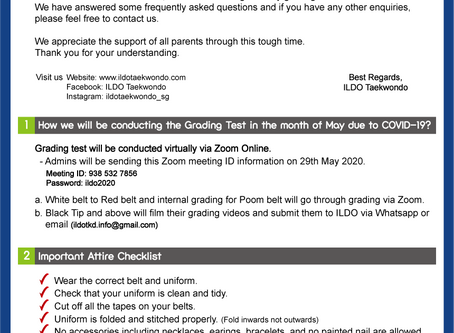 29th May 2020 Virtual Grading Test Instruction
