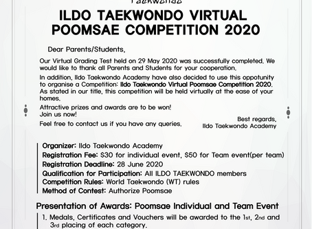 ILDO TAEKWONDO VIRTUAL POOMSAE COMPETITION 2020