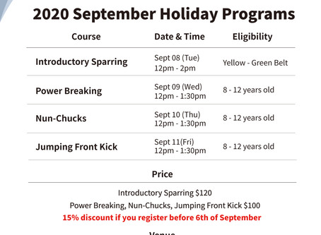 2020 September Bedok Branch Holiday Programs