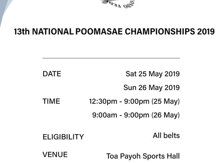 13th National Poomsae Championships 2019