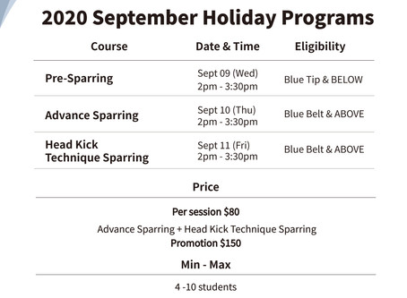 2020 September West Coast Branch Holiday Programs