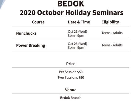 Bedok October Holiday Seminars
