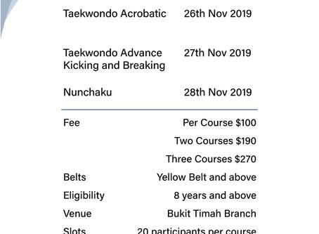 Bukit Timah November 2019 Holiday Programs