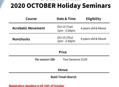 Bukit Timah October Holiday Program