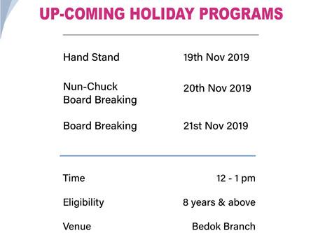Bedok 2019 November Holiday Programs
