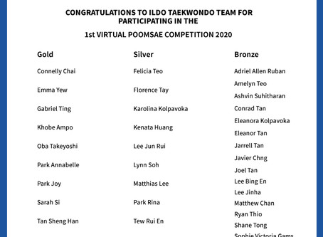 2020 ILDO TAEKWONDO 1st VIRTUAL POOMSAE COMPETITION WINNERS