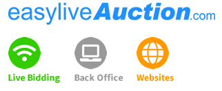 We're starting on Easy-Live Auctions! Easy to Register, easy to use!