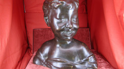 laughing boy bronze