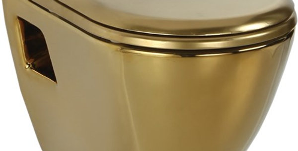 Wall Hung Pan With Hole Ext. Gold Plated