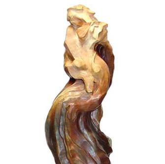 Inseparable 22 in height bronze sculptur