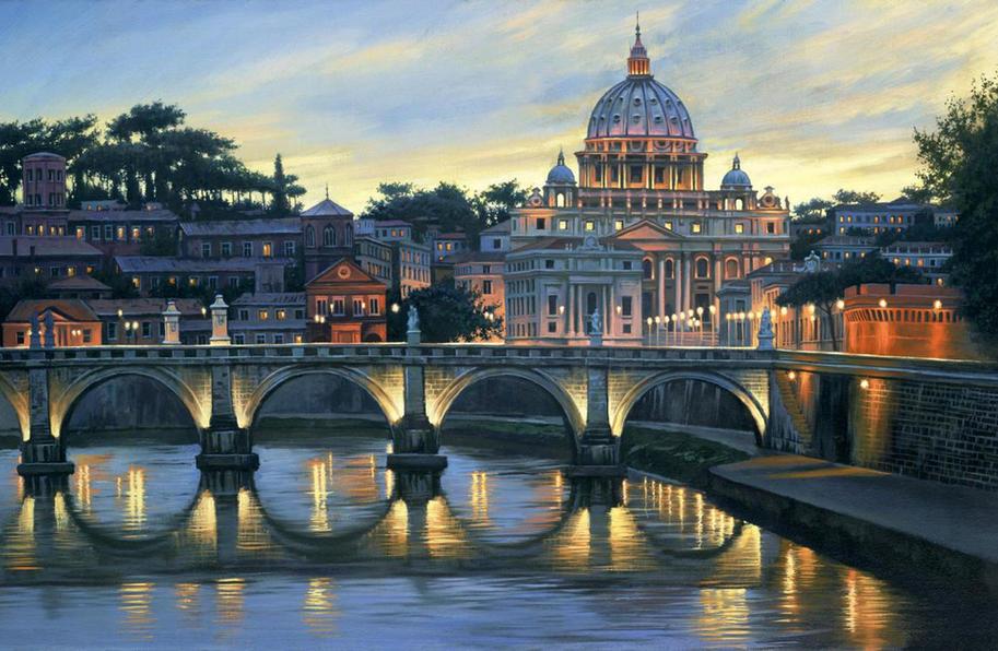 Evening in Rome by Alexei Butiskiy