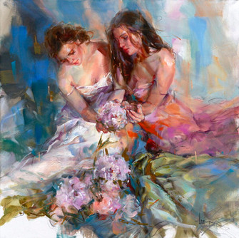 Flower Fall 36 x 36 Oil on Canvas.jpeg