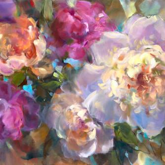 Bloom Again 24 x 48 by Ann Razumovskaya.