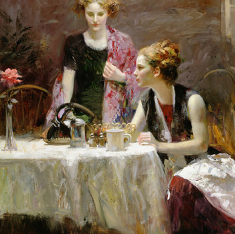 After-Dinner-by-Artist-Pino-Daeni-Artwor
