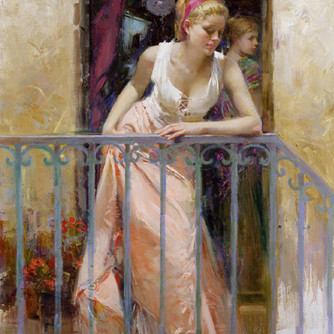 At-the-Balcony-by-Artist-Pino-Daeni-Artw
