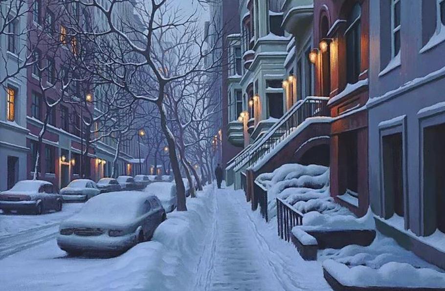 New York Brownstones by Alexei Butiskiy