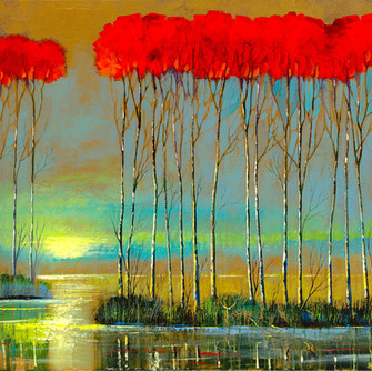 SERENITY RISING 24 X 48 EMBELLISHED 1400