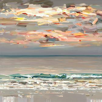 Where the Sky Meets the Sea 48 x 48 on c