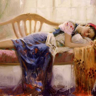 At-Rest-by-Artist-Pino-Daeni-Artwork on