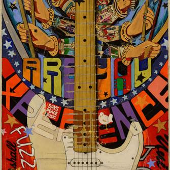49x20 Jimi Hendrix Woodstock Stratocaste