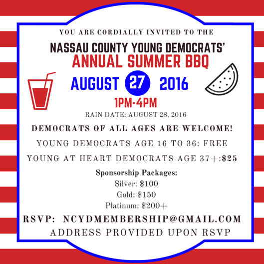 Nassau County Young Dem Annual Summer BBQ