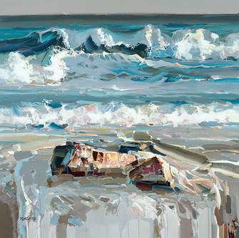 kote-mezmerizing-waves-48x48 on Canvas.j
