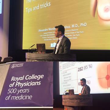 Conferência Prof. Alexandre Munhoz, no Royal College of Physicians em Londres, Reino Unido