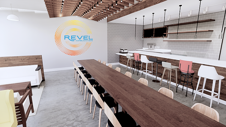 Revel 365 kambucha bar franchise prototype restaurant concept